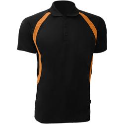 vaatteet Miehet Lyhythihainen poolopaita Gamegear Riviera Black/Orange