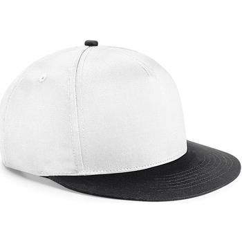 Asusteet / tarvikkeet Lapset Lippalakit Beechfield BC615 White/ Black