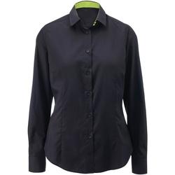 vaatteet Naiset Paitapusero / Kauluspaita Alexandra AX060 Black/ Lime