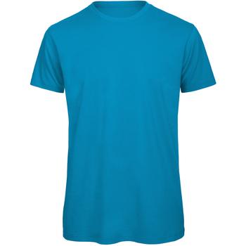 vaatteet Miehet Lyhythihainen t-paita B And C TM042 Atoll