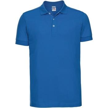 vaatteet Miehet Lyhythihainen poolopaita Russell 566M Azure Blue