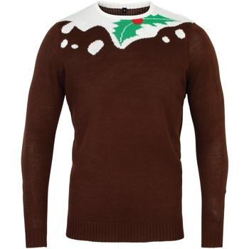 vaatteet Miehet Neulepusero Christmas Shop CS155 Brown/White