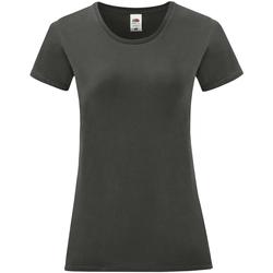 vaatteet Naiset Lyhythihainen t-paita Fruit Of The Loom 61432 Light Graphite