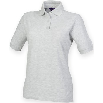 vaatteet Naiset Lyhythihainen poolopaita Henbury HB401 Heather Grey