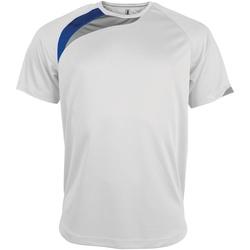 vaatteet Miehet Lyhythihainen t-paita Kariban Proact PA436 White/ Royal/ Storm Grey