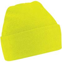 Asusteet / tarvikkeet Lapset Pipot Beechfield B45B Fluorescent Yellow