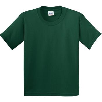vaatteet Lapset Lyhythihainen t-paita Gildan 5000B Forest Green