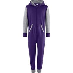 vaatteet Lapset Jumpsuits / Haalarit Comfy Co CC03J Purple/Heather Grey