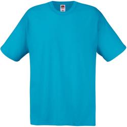 vaatteet Miehet Lyhythihainen t-paita Universal Textiles 61082 Cyan