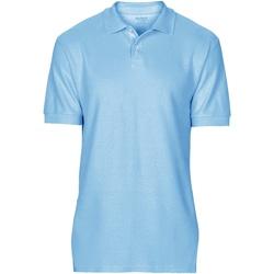 vaatteet Miehet Lyhythihainen poolopaita Gildan 64800 Light Blue