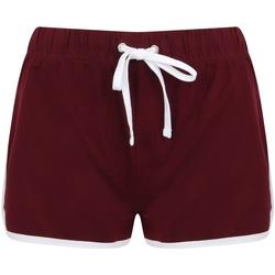 vaatteet Naiset Shortsit / Bermuda-shortsit Skinni Fit SK069 Burgundy/ White
