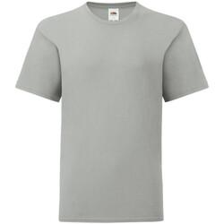 vaatteet Lapset Lyhythihainen t-paita Fruit Of The Loom 61023 Zinc Grey
