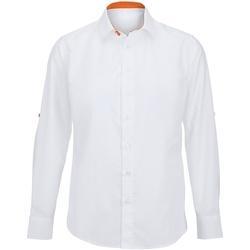 vaatteet Miehet Pitkähihainen paitapusero Alexandra Hospitality White/ Orange