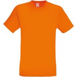 vaatteet Miehet Lyhythihainen t-paita Universal Textiles 61082 Bright Orange