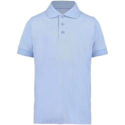 vaatteet Pojat Lyhythihainen poolopaita Kustom Kit KK406 Light Blue
