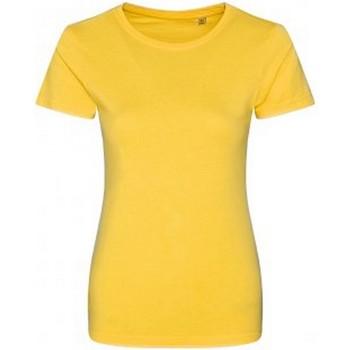 vaatteet Naiset Lyhythihainen t-paita Ecologie EA01F Sun Yellow
