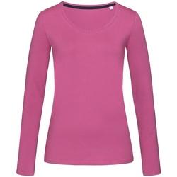 vaatteet Naiset T-paidat pitkillä hihoilla Stedman Stars  Cupcake Pink