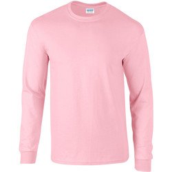 vaatteet Miehet T-paidat pitkillä hihoilla Gildan 2400 Light Pink