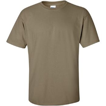 vaatteet Miehet Lyhythihainen t-paita Gildan Ultra Prarie Dust