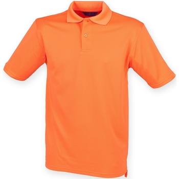 vaatteet Miehet Lyhythihainen poolopaita Henbury HB475 Burnt Orange