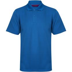vaatteet Miehet Lyhythihainen poolopaita Henbury HB475 Mid Blue