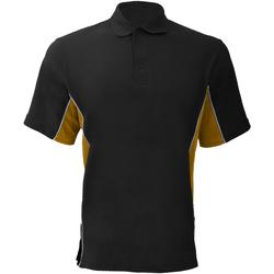 vaatteet Miehet Lyhythihainen poolopaita Gamegear KK475 Black/Gold/White