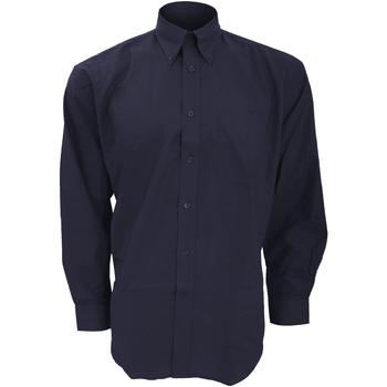 vaatteet Miehet Pitkähihainen paitapusero Kustom Kit KK351 French Navy