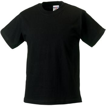 vaatteet Lapset Lyhythihainen t-paita Jerzees Schoolgear ZT180B Black