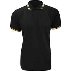 vaatteet Miehet Lyhythihainen poolopaita Kustom Kit KK409 Black/Sun Yellow
