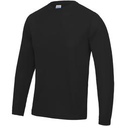 vaatteet Miehet T-paidat pitkillä hihoilla Awdis JC002 Jet Black