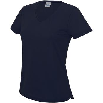 vaatteet Naiset Lyhythihainen t-paita Awdis JC006 French Navy
