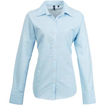 vaatteet Naiset Paitapusero / Kauluspaita Premier PR334 Light Blue