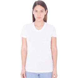 vaatteet Naiset Lyhythihainen t-paita American Apparel PL301W White