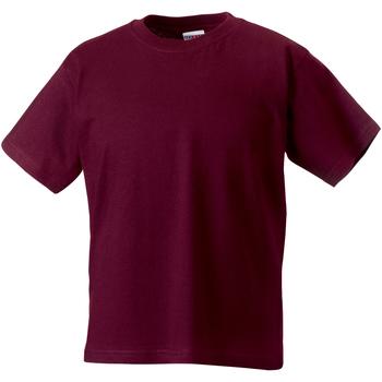 vaatteet Lapset Lyhythihainen t-paita Jerzees Schoolgear ZT180B Burgundy
