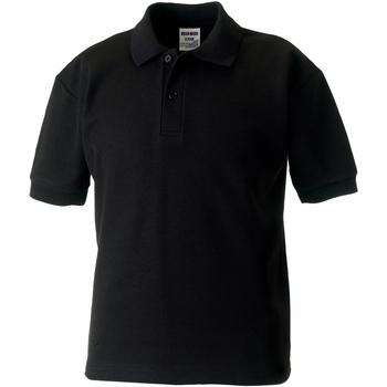 vaatteet Pojat Lyhythihainen poolopaita Jerzees Schoolgear 539B Black