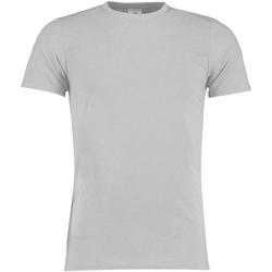 vaatteet Miehet Lyhythihainen t-paita Kustom Kit KK504 Light Grey Marl