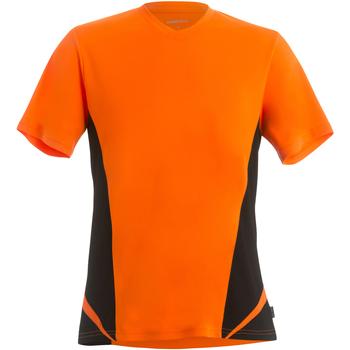vaatteet Miehet Lyhythihainen t-paita Gamegear KK969 Fluorescent Orange/Black