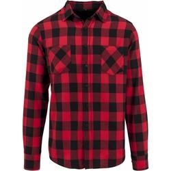 vaatteet Miehet Pitkähihainen paitapusero Build Your Brand BY031 Black/Red