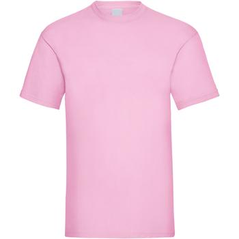 vaatteet Miehet Lyhythihainen t-paita Universal Textiles 61036 Pastel Pink