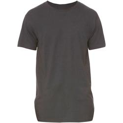 vaatteet Miehet Lyhythihainen t-paita Bella + Canvas Long Body Dark Grey Heather