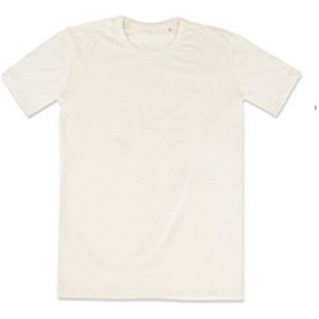 vaatteet Miehet Lyhythihainen t-paita Stedman Stars Morgan Cream White