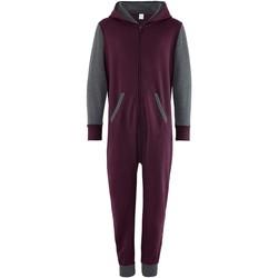 vaatteet Lapset Jumpsuits / Haalarit Comfy Co CC03J Burgundy/Charcoal