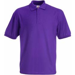 vaatteet Pojat Lyhythihainen poolopaita Fruit Of The Loom 63417 Purple