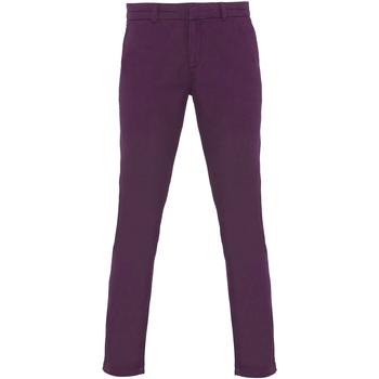 vaatteet Naiset Chino-housut / Porkkanahousut Asquith & Fox Chino Purple