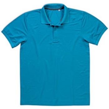 vaatteet Miehet Lyhythihainen poolopaita Stedman  Hawaii Blue