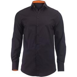 vaatteet Miehet Pitkähihainen paitapusero Alexandra Hospitality Black/ Orange