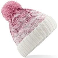 Asusteet / tarvikkeet Pipot Beechfield B459 Dusky Pink/Off White