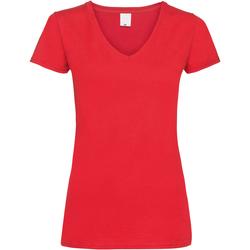 vaatteet Naiset Lyhythihainen t-paita Universal Textiles Value Bright Red