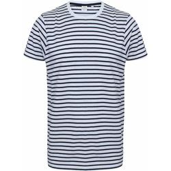 vaatteet Lyhythihainen t-paita Skinni Fit SF202 White/Oxford Navy