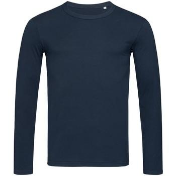 vaatteet Miehet T-paidat pitkillä hihoilla Stedman Stars  Marina Blue